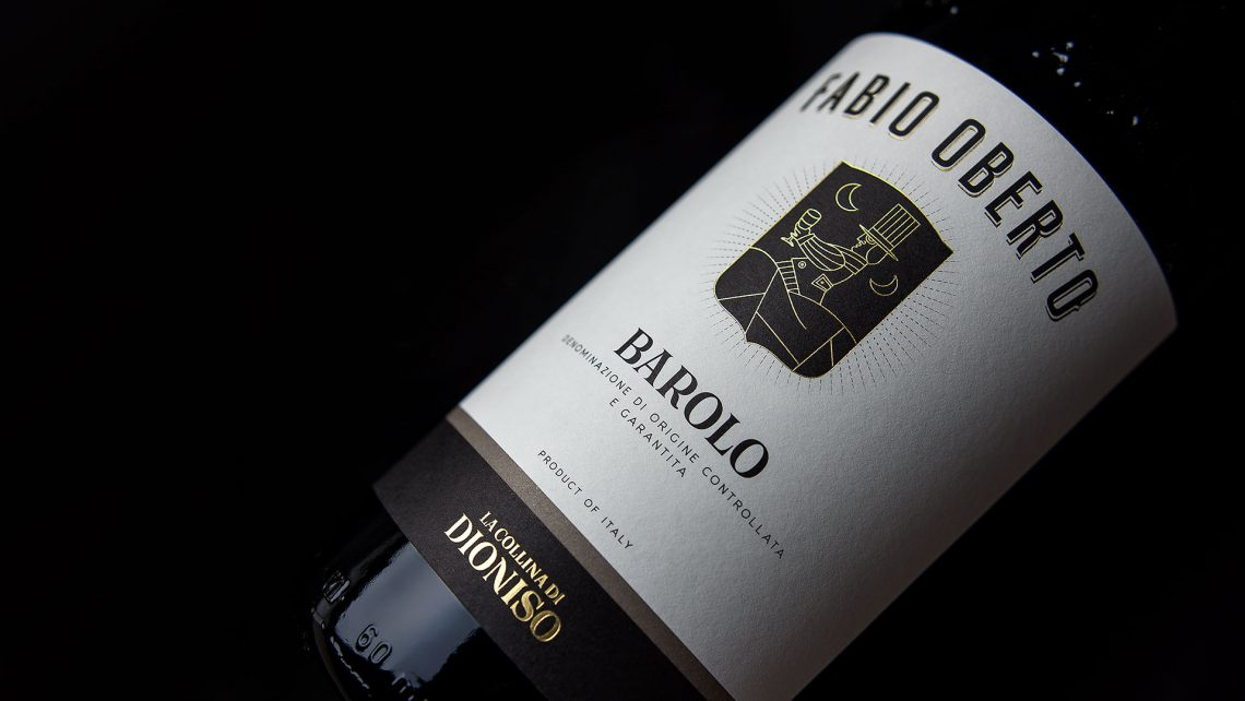 Fabio Oberto La Collina Di Dioniso Barolo Label Design by Diego Maniscalco MAD13 creative room